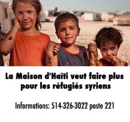 La Maison d'Haïti veut faire plus pour les réfugiés syriens